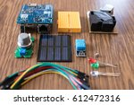iot kit components for... | Shutterstock . vector #612472316