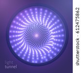 vector infinite round tunnel of ... | Shutterstock .eps vector #612475862