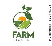 farm house concept logo full... | Shutterstock .eps vector #612476735