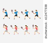 tennis player design vector | Shutterstock .eps vector #612477338