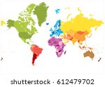detailed world map spot colors. ... | Shutterstock .eps vector #612479702