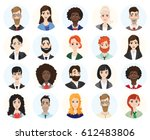 set of diverse round avatars... | Shutterstock .eps vector #612483806