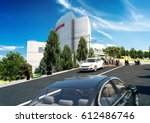 3d rendering and design  ... | Shutterstock . vector #612486746