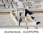 model of ancient jerusalem at... | Shutterstock . vector #612491996