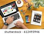 creative designer graphic at...   Shutterstock . vector #612493946