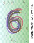 6 number art design | Shutterstock .eps vector #612495716