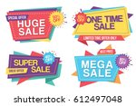 colorful set of sale banners... | Shutterstock .eps vector #612497048