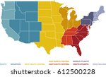 colorful regional map of the... | Shutterstock .eps vector #612500228