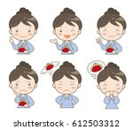 housewife's set of money   six... | Shutterstock .eps vector #612503312