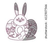 figure rabbit easter with...   Shutterstock .eps vector #612507566