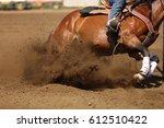 A Horse And Rider At A Barrel...