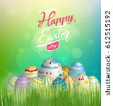happy easter | Shutterstock . vector #612515192
