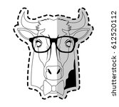 hipster animal icon image  | Shutterstock .eps vector #612520112