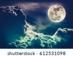 background night sky with... | Shutterstock . vector #612531098