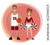 athletic basketball athlete... | Shutterstock .eps vector #612546515