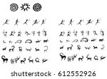 cave paintings | Shutterstock .eps vector #612552926