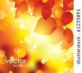 autumn leaves background.vector.   Shutterstock .eps vector #61255891