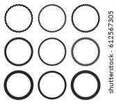 vector set of round black... | Shutterstock .eps vector #612567305