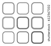 vector rope set of square... | Shutterstock .eps vector #612567332