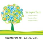 vector nature layout with tree