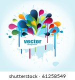 abstract background with splash ... | Shutterstock .eps vector #61258549