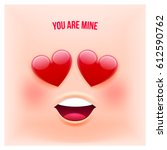vector emoji style card with... | Shutterstock .eps vector #612590762