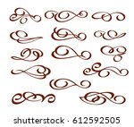 ornamental design elements...   Shutterstock .eps vector #612592505