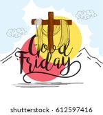 good friday illustration...   Shutterstock .eps vector #612597416