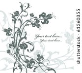 floral card with free place for ...