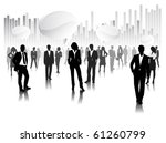 business people with 3d speech... | Shutterstock .eps vector #61260799