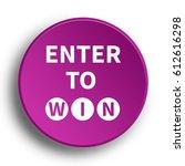 enter to win icon. internet... | Shutterstock . vector #612616298