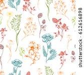 vector seamless floral... | Shutterstock .eps vector #612616898