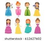 fairy tale. set of beautiful... | Shutterstock .eps vector #612627602