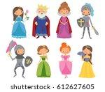 fairy tale. king  queen ... | Shutterstock .eps vector #612627605