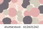 seamless dot pattern with beige ... | Shutterstock .eps vector #612631262