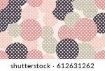 seamless dot pattern with beige ... | Shutterstock .eps vector #612631262