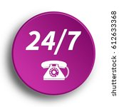 24 7 support phone icon....   Shutterstock . vector #612633368