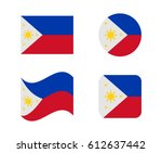 Set 4 Flags Of Philippines
