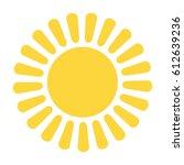 sun icon | Shutterstock .eps vector #612639236