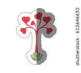 tree shape heart leaves...   Shutterstock .eps vector #612646652