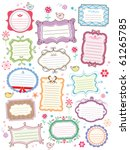 cute frames | Shutterstock .eps vector #61265785