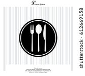 menu vector icon. vector... | Shutterstock .eps vector #612669158