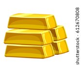 stack of gold bars icon.... | Shutterstock .eps vector #612670808