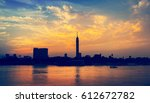 cityscape of cairo downtown at... | Shutterstock . vector #612672782