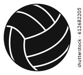 black volleyball ball icon.... | Shutterstock .eps vector #612682205