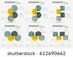 set of infographic four steps... | Shutterstock .eps vector #612690662