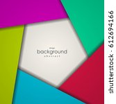 abstract background of colorful ... | Shutterstock .eps vector #612694166