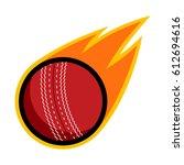 cricket sport comet fire tail... | Shutterstock .eps vector #612694616