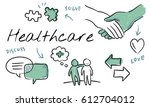mental health care sketch... | Shutterstock . vector #612704012