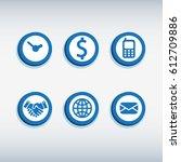 icon dollar vector set dollar...   Shutterstock .eps vector #612709886